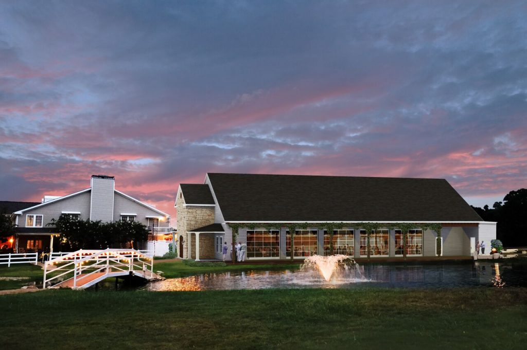 exterior of Stonehem Hall, event facilities in College Station