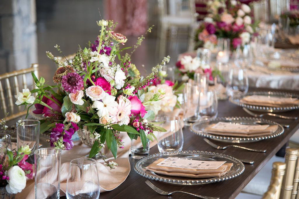 Spring Wedding Inspiration in Stonehem Hall Farm Tables by Vestige Event Rentals and Willow Lane Florals