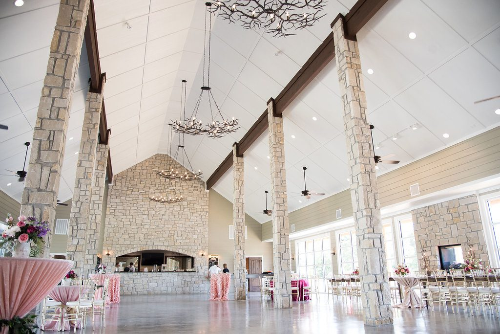 College Station Wedding Venue with stone accents and waterside views | Stonehem Hall Inn at Quarry Ridge