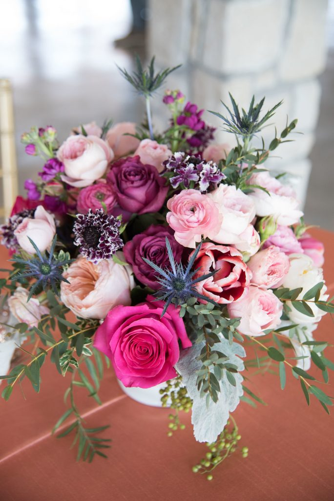 Stonehem Hall Spring Wedding inspiration with pink, peach and purple by post oak florist