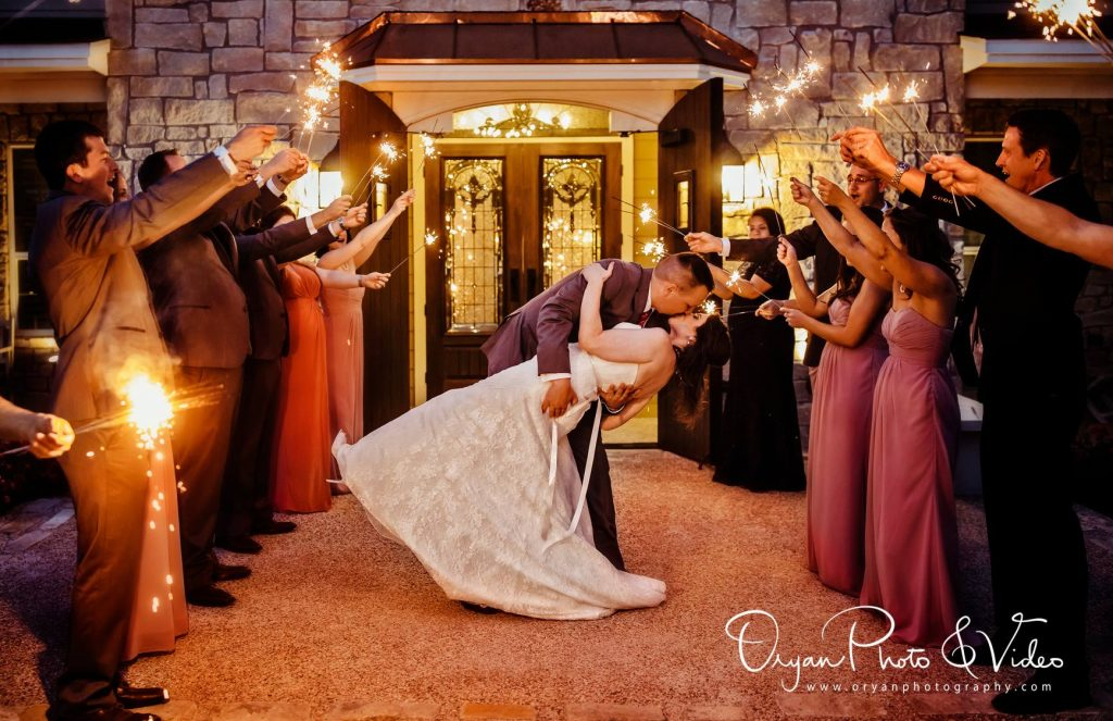 Sparkler Exit College Station Wedding Venue inn at quarry ridge