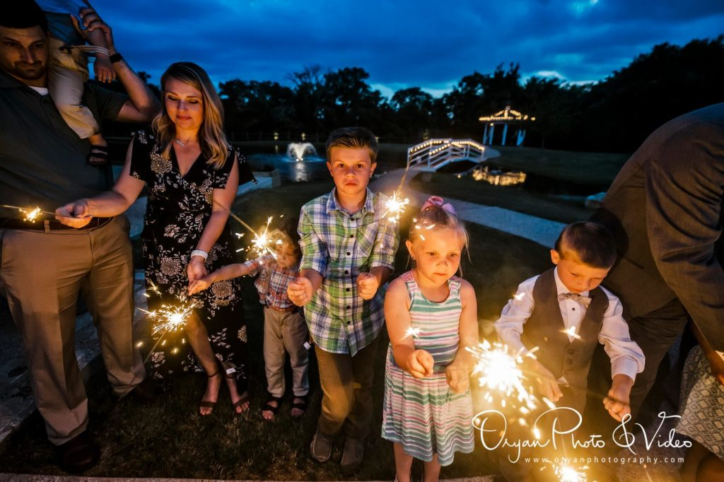sparkler exit college station stonehem hall wedding venu