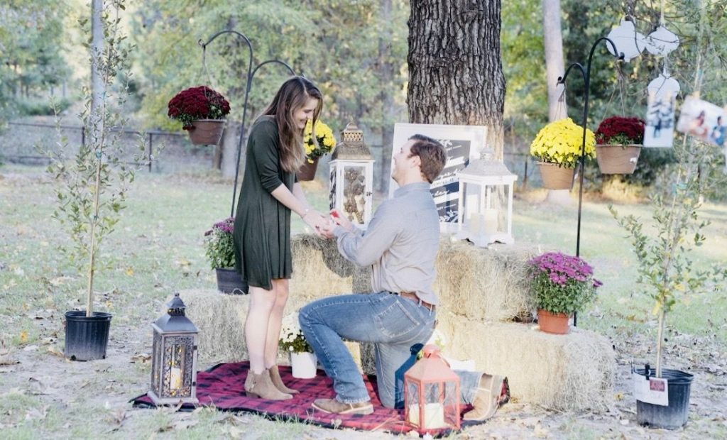 aggie proposal engagement inn at quarry ridge texas wedding venue